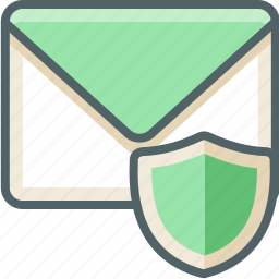 email, inbox, mail, protection, safe, secure, sheild icon