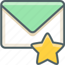 bookmark, email, favorite, inbox, like, mail, star icon