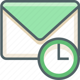 alarm, clock, email, inbox, mail, time, timer icon