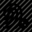 dactyloscopic, delete, digital, fingerprint, protection, scan, security icon