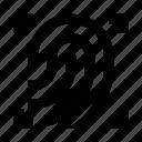 dactyloscopic, digital, fingerprint, protection, scan, scaner, security icon