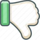 bad, dislike, down, hate, no, unlike, vote icon