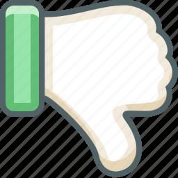 bad, dislike, down, hate, no, unlike, vote icon