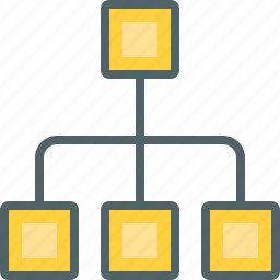 communication, connection, hierarchical, hierarchy, management, network, structure icon