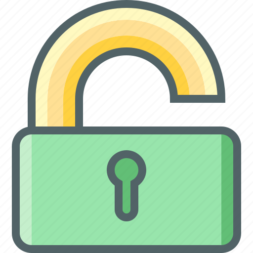 lock, off, protection, secure, security, unlock, usafe icon