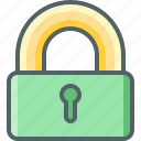 lock, on, protection, safe, safety, secure, security icon
