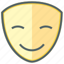 emoji, emoticon, expression, face, happy, mask, smiley icon