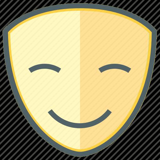 emoji, emoticon, expression, face, happy, mask, smiley icon