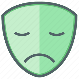 emoji, emoticon, emotion, expression, face, mask, sad icon
