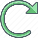 refresh, reload, renew, rotate, rotation, sync, update icon