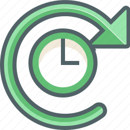 refresh, reload, renew, rotate, sync, timer, update icon