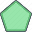 design, geometric, geometry, pentagon, shape icon
