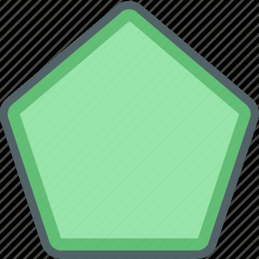 design, geometric, geometry, pentagon, shape icon