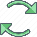 cloud, exchange, refresh, reload, repeat, sync, synchronization icon
