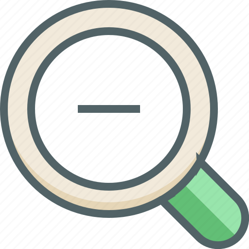glass, magnify, magnifying, minus, out, view, zoom icon