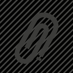 attach, attachment, clinch, clip, paperclip icon