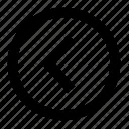arrow, arrows, back, direction, left, leftward, undo icon