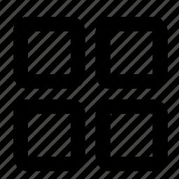 block, grid, interface, menu, more, ui, web icon