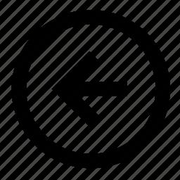 arrow, arrows, back, direction, left, leftward, move icon