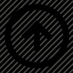 arrow, arrows, direction, navigation, top, up, upward icon