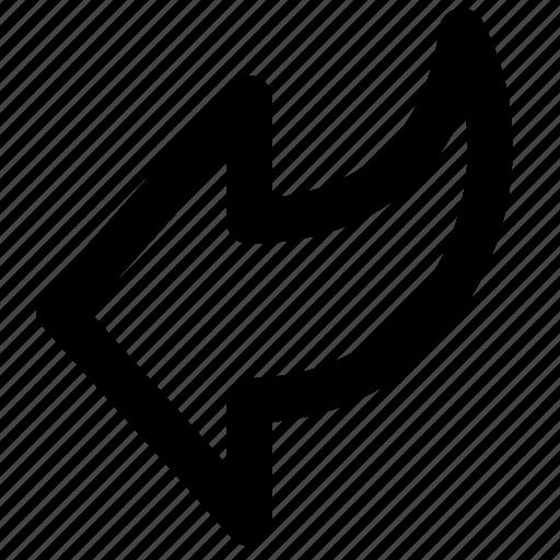 arrow, arrows, back, backward, extract, left, undo icon