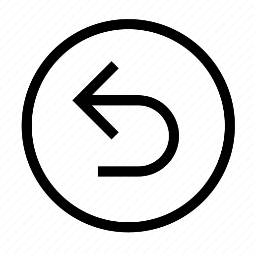 arrow, back, backward, circle, direction, left, return icon