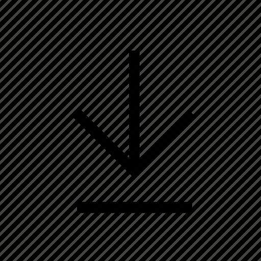 arrow, arrows, direction, down, download, guardar, save, saving icon