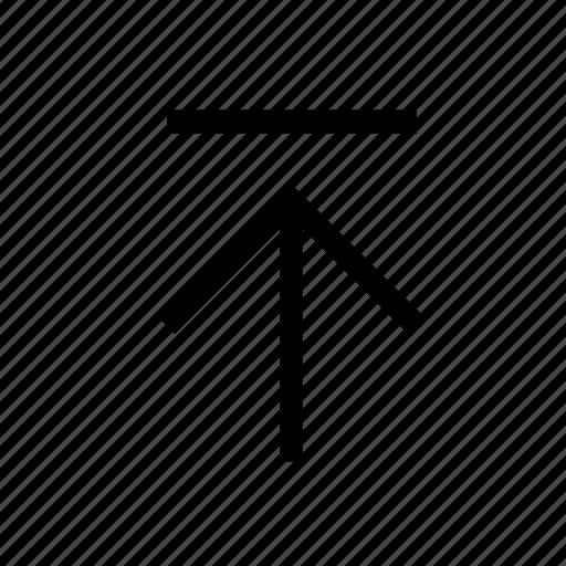 arrow, direction, save, top, up, upload, upward icon