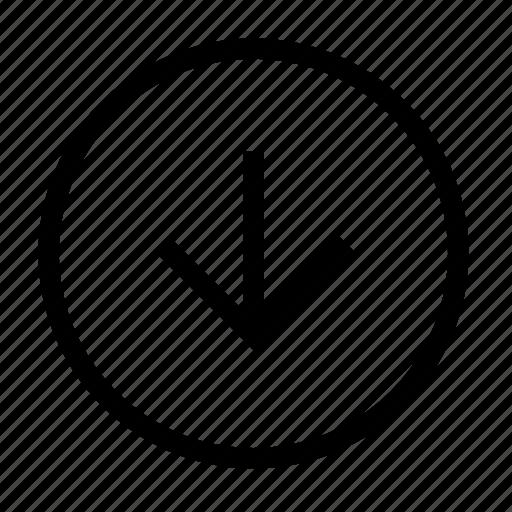 arrow, arrows, bottom, direction, down, download, navigation icon