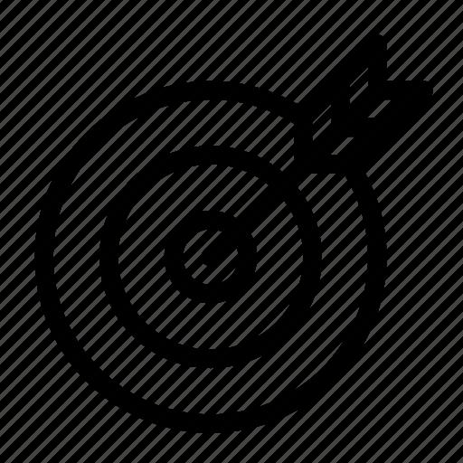 aim, archery, bullseye, business, goal, success, target icon