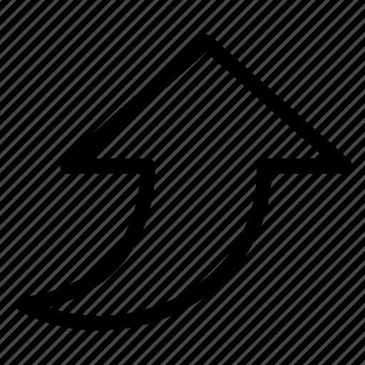 arrow, arrows, navigation, top, up, upload, upward icon