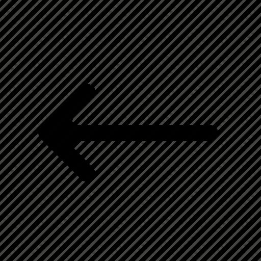 arrow, back, backward, left, right icon