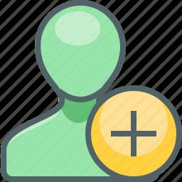 account, add, new, people, plus, profile, user icon