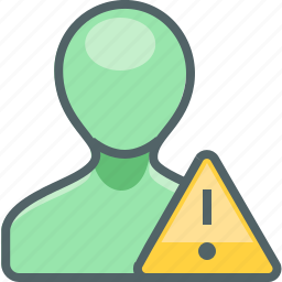 account, alert, caution, danger, profile, user, warning icon