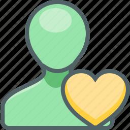 account, bookmark, heart, like, love, profile, user icon