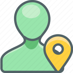 account, gps, location, map, navigation, profile, user icon