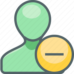 account, close, delete, minus, profile, remove, user icon