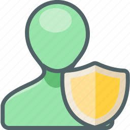 account, profile, protection, safe, secure, shield, user icon