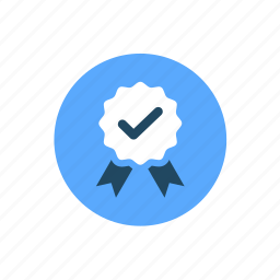 approved, award, badge, check, medal, prize, reward icon