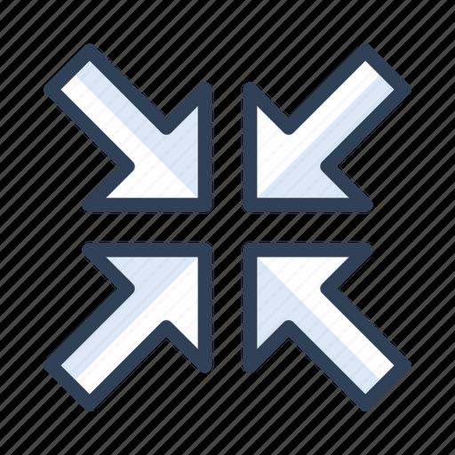 minimize, narrow, resize, size icon
