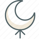 arrow, direction, forecast, moon, navigation, up icon