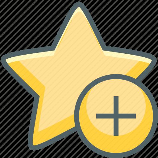 add, bookmark, favorite, love, new, plus, star icon