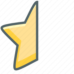 achievement, bookmark, favorite, favourite, half, like, star icon