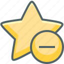 achievement, award, bookmark, close, minus, remove, star icon
