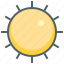 day, forecast, hot, shine, sun, sunny, weather icon