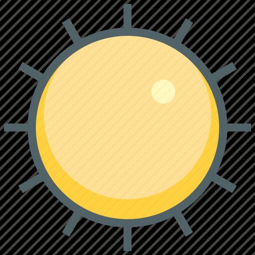 day, forecast, hot, shine, sun, sunny, weather icon