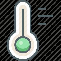 celsius, cold, forecast, hot, mercury, temperature, thermometer icon