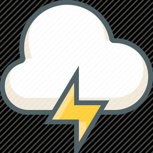 bolt, cloud, cloudy, forecast, rain, thunder, weather icon