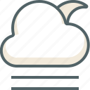 cloud, line, moon, weather, cloudy, forecast, wind