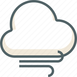 cloud, clouds, cloudy, forecast, weather, wind icon